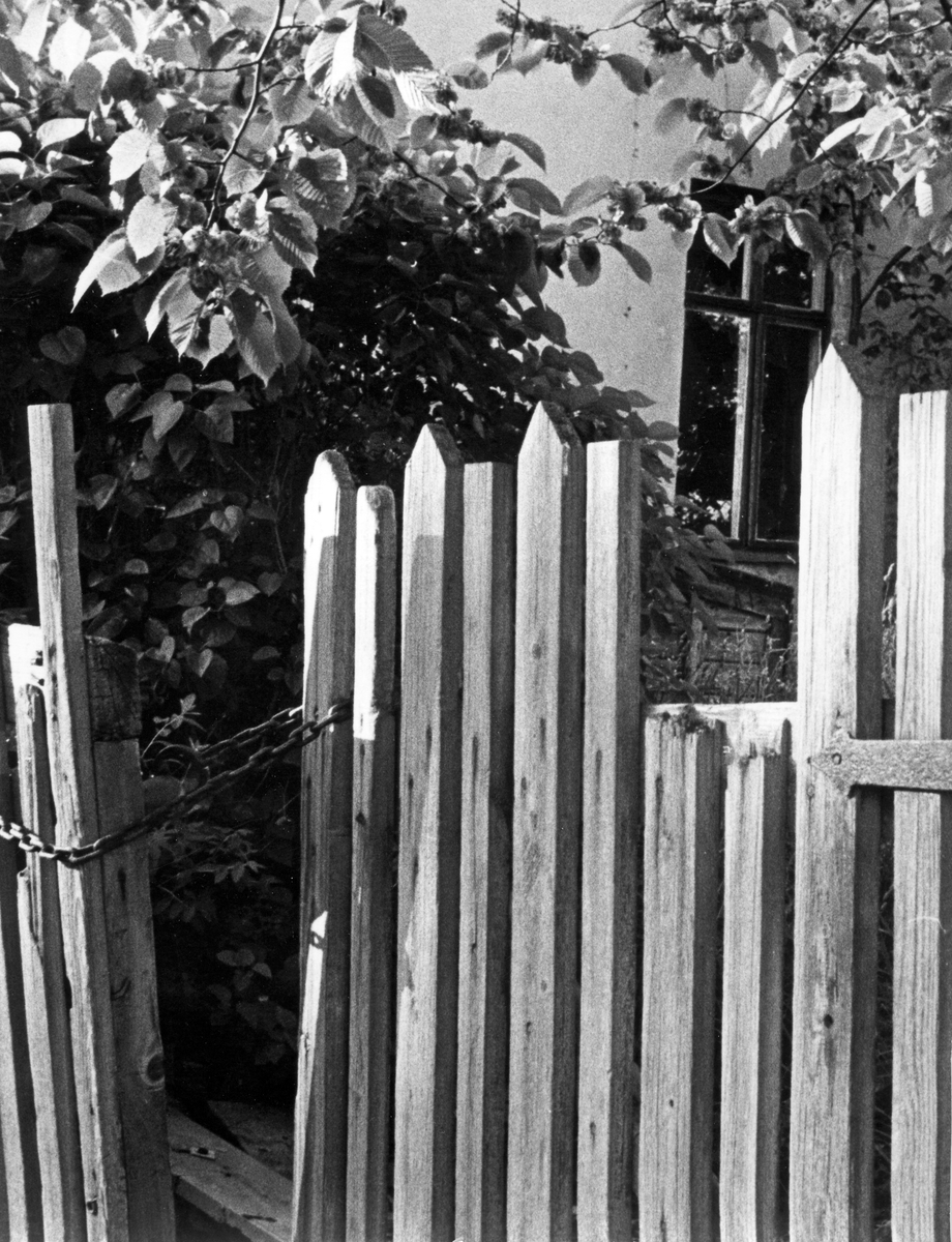 Grind framför bostadshuset i Gävle.