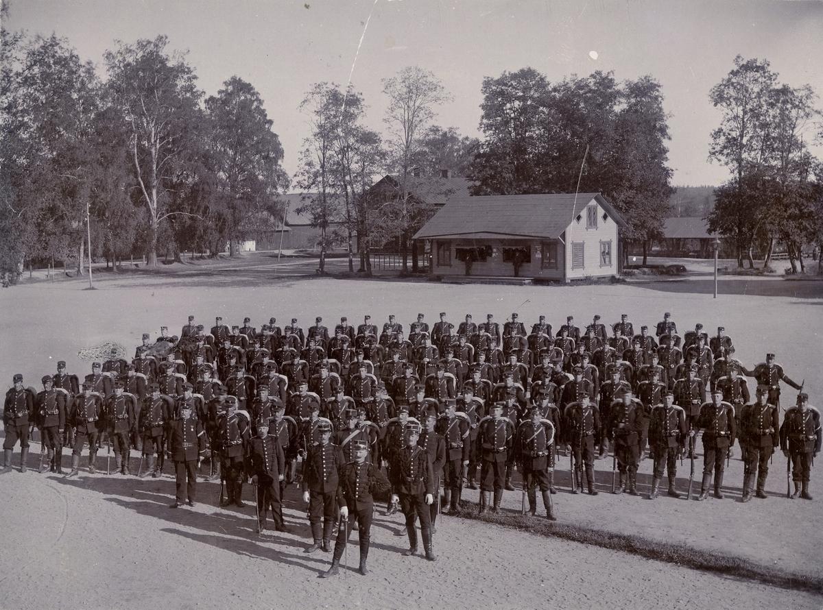 Officerare och soldater från Värmlands fältjägarkår I 26.