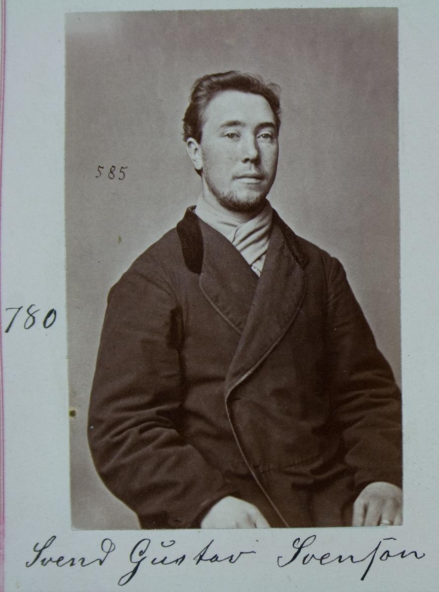 Fangeportrett, Svend Gustav Svenson