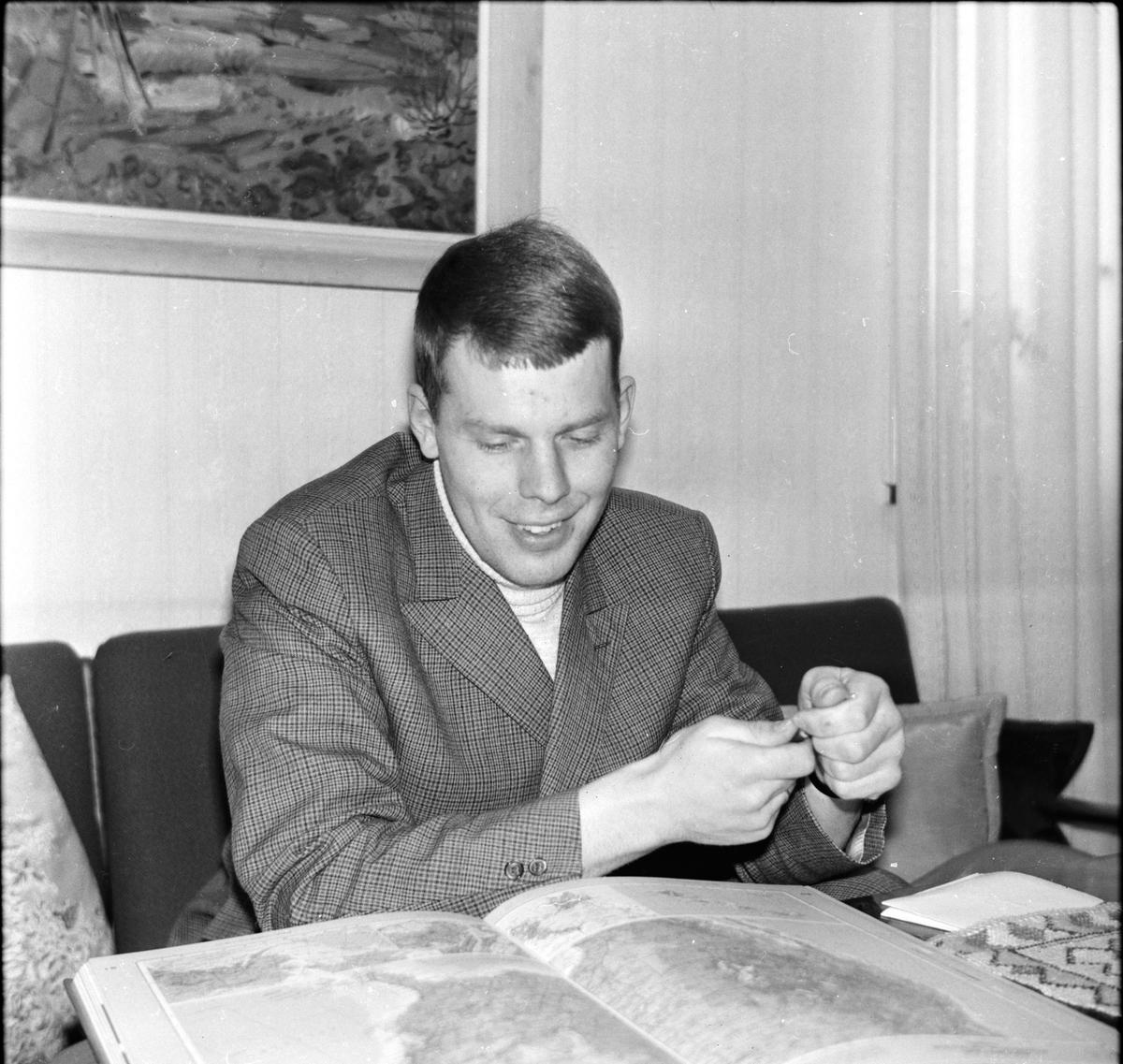 Nytorp, Erik Persson reser till USA, 18 Mars 1968