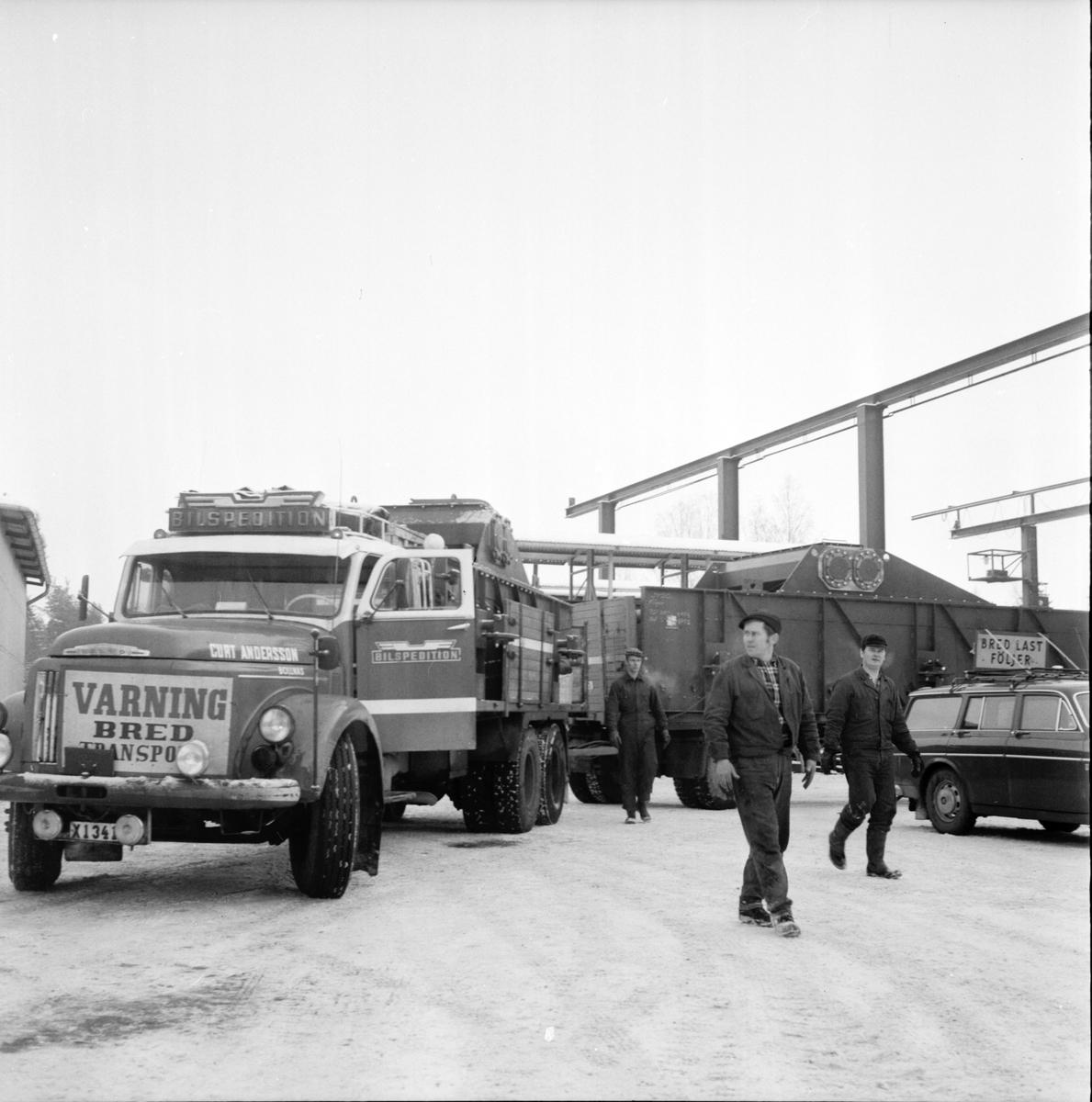 Arbrå, Stor transport från verkstaden, Febr 1970