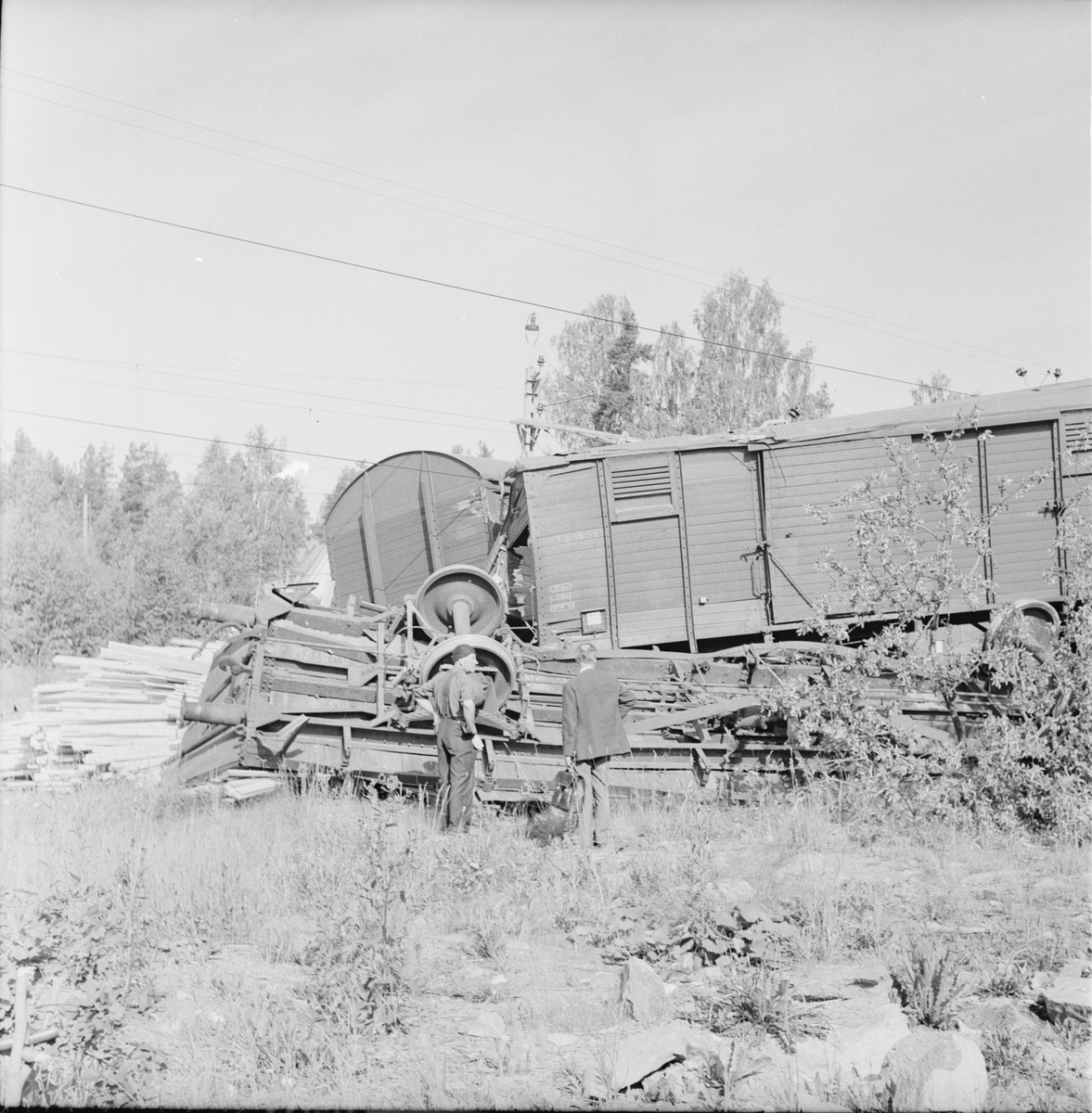 Lingbo, Tågurspårning, 5 Juli 1966