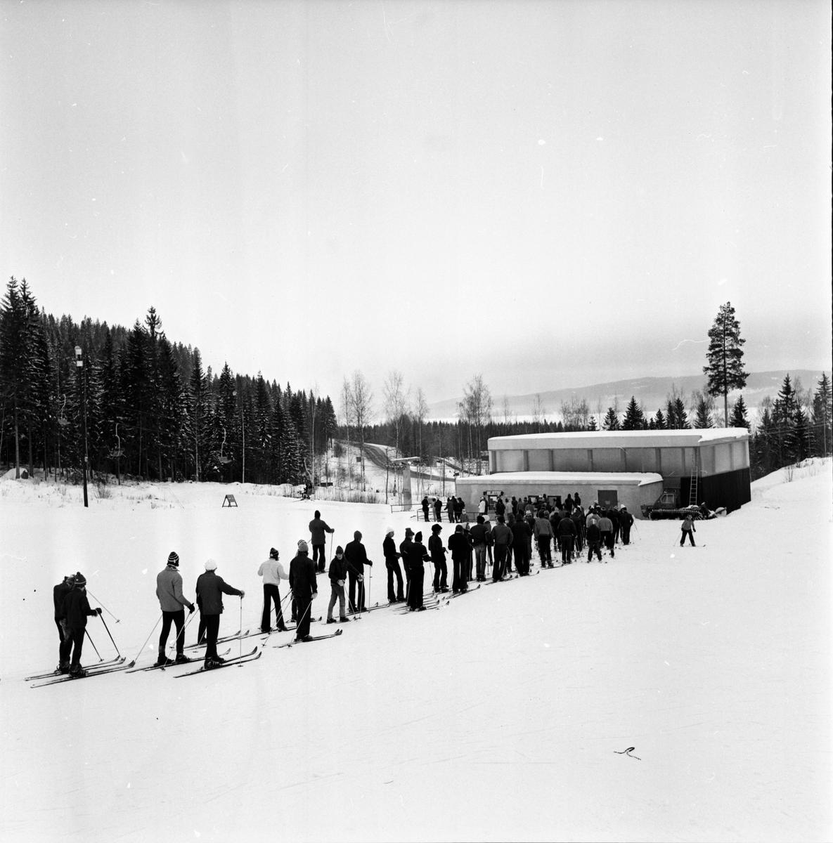 Åsberget, Skiddag, Febr 1972