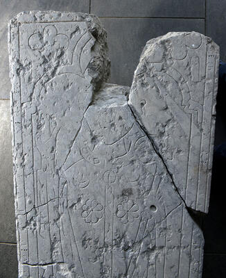 Detalj fra biskop Peters gravstein.