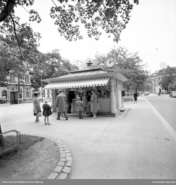 Den så kallade Barnens Dagskiosken som låg i Esplanaden, mellan kvarteret Olympen och kvarteret Försöket.