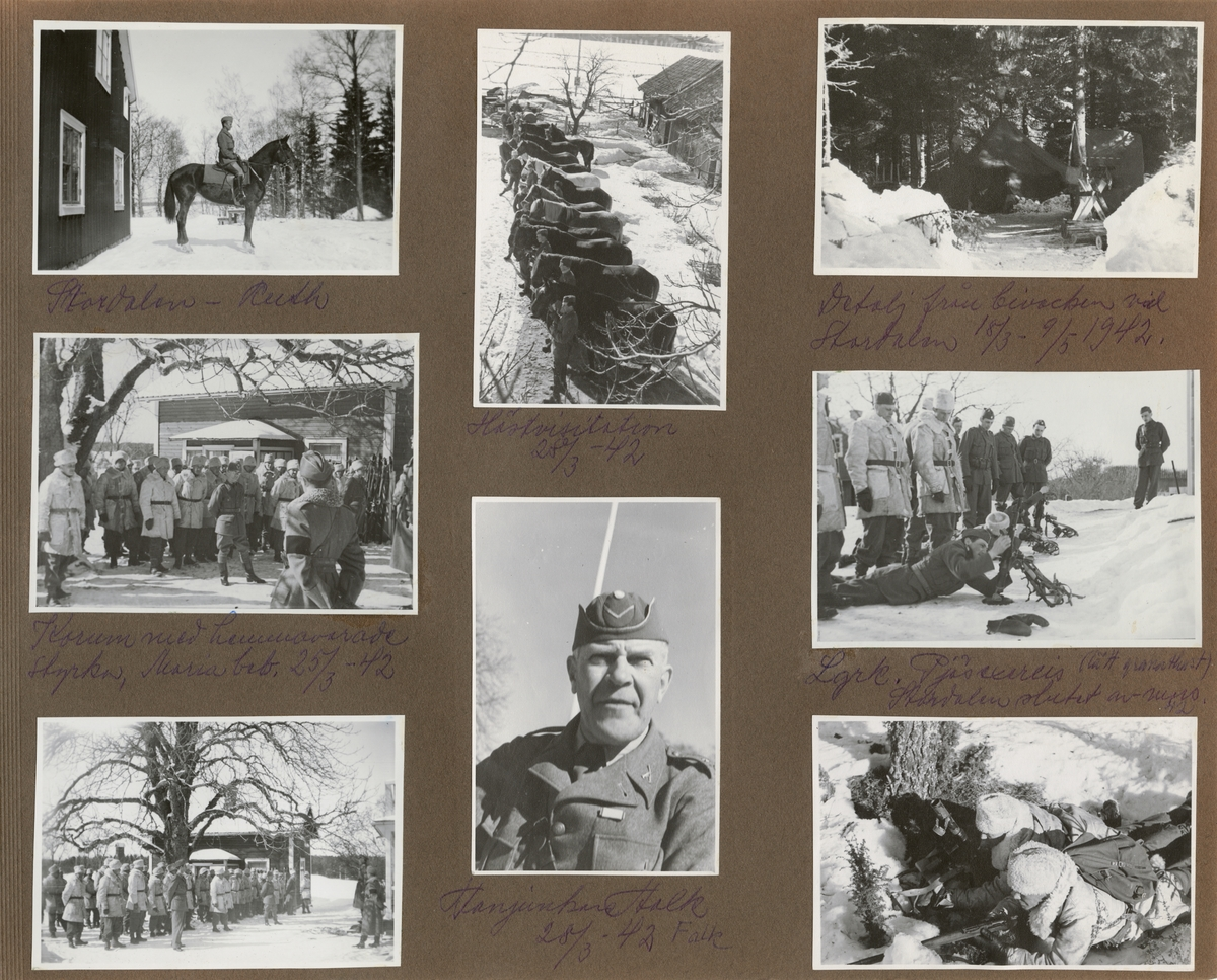 Korum - andaktsstund vid Södermanlands regemente I 10 Marie bebådelsedag 1942-03-25.