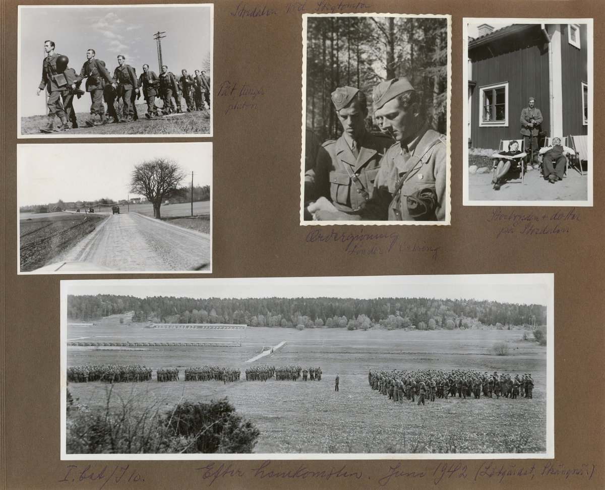 Soldater från Södermanlands regemente I 10 på marsch.