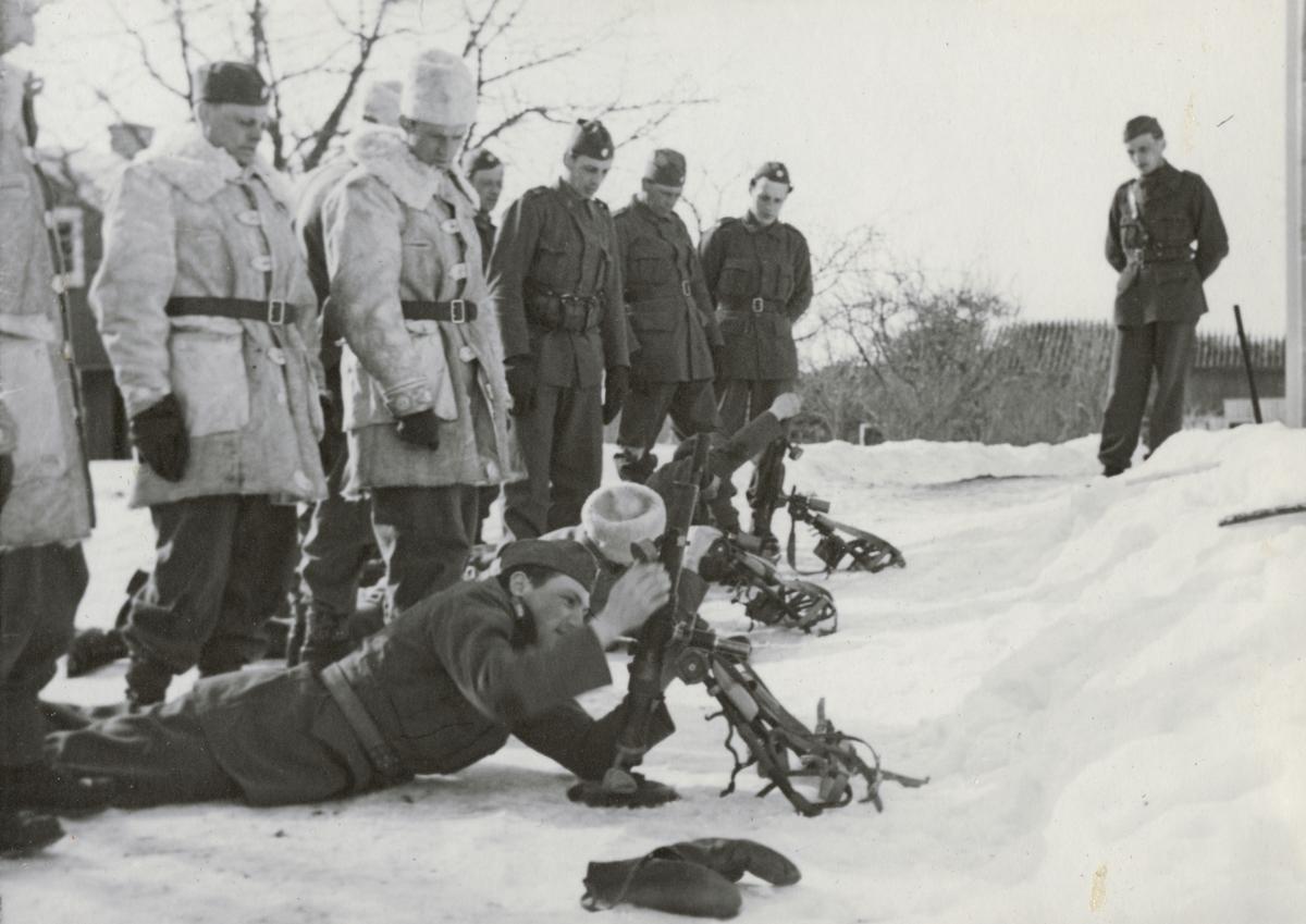 Pjäsövning vid Södermanlands regemente I 10.