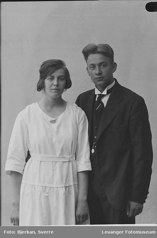 Portrett av et brudepar, Stuestøl, fornavn ukjent.