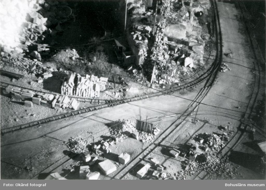Flygfoto över stenhuggeriområdet på Rixö