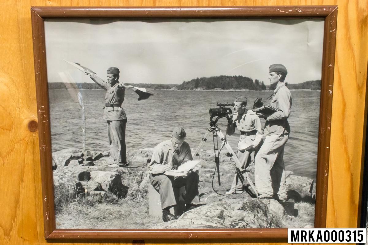 Fotografi taget på signalister, Signalskolan KA 2. Foto Wallemert 1950.