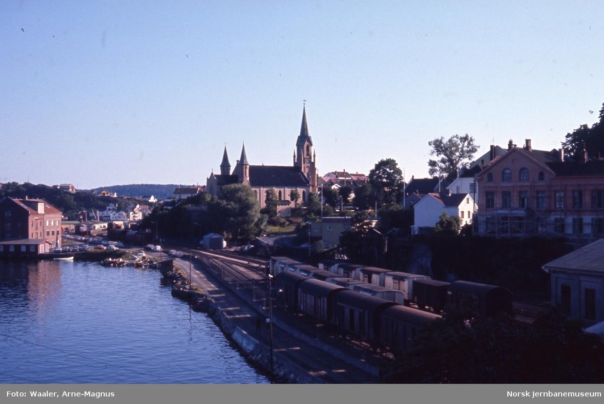 Oversikt over skiftesporene på Kragerø stasjon