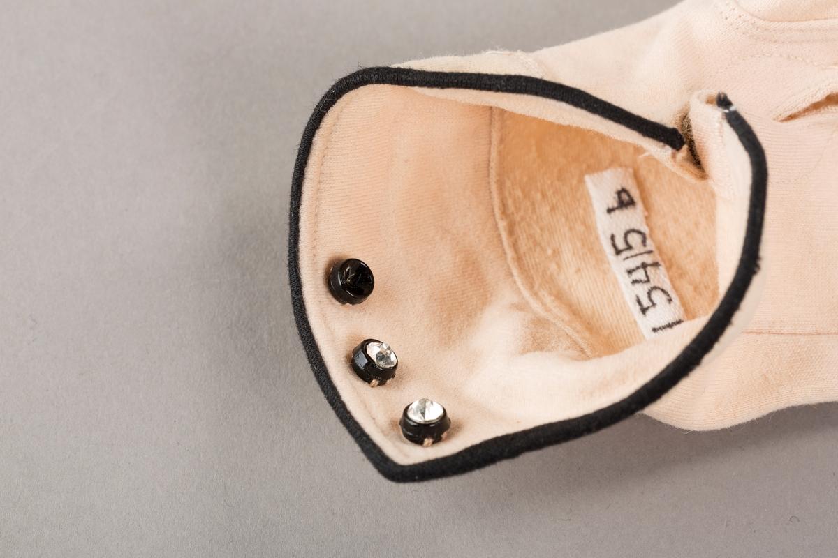 Stikninger, passepoiler, glitrende knapper