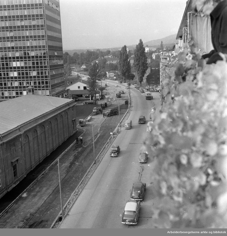 Sørkedalsveien. September 1958