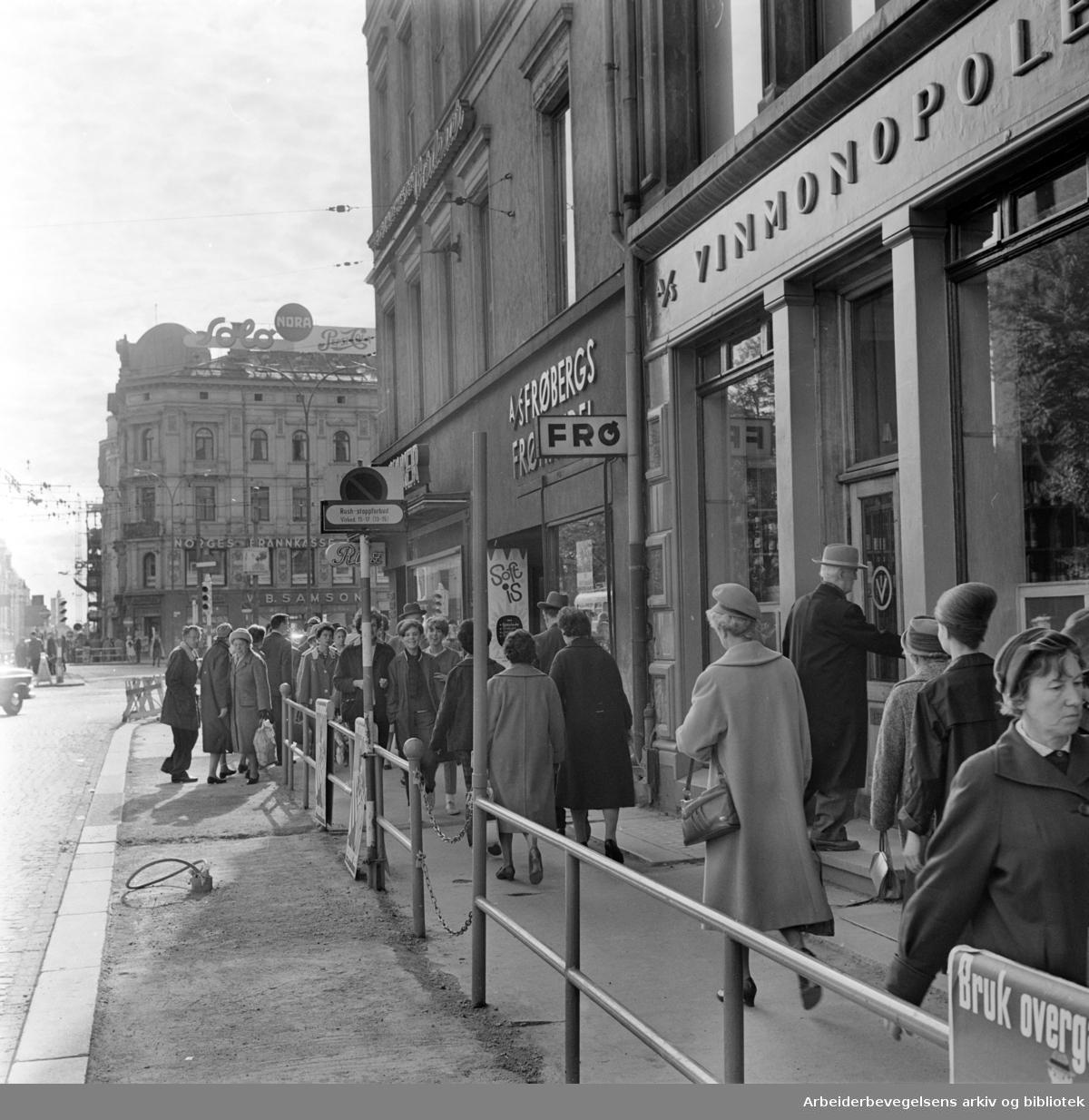 Torggata. Vinmonopolet. September 1962