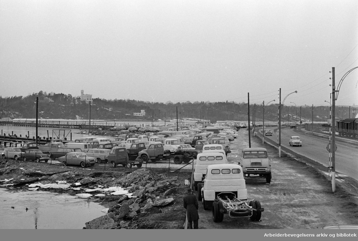 Strandpromenaden. Mars 1961