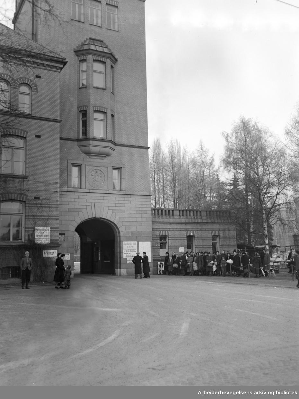 Ullevål Sykehus. Desember 1949