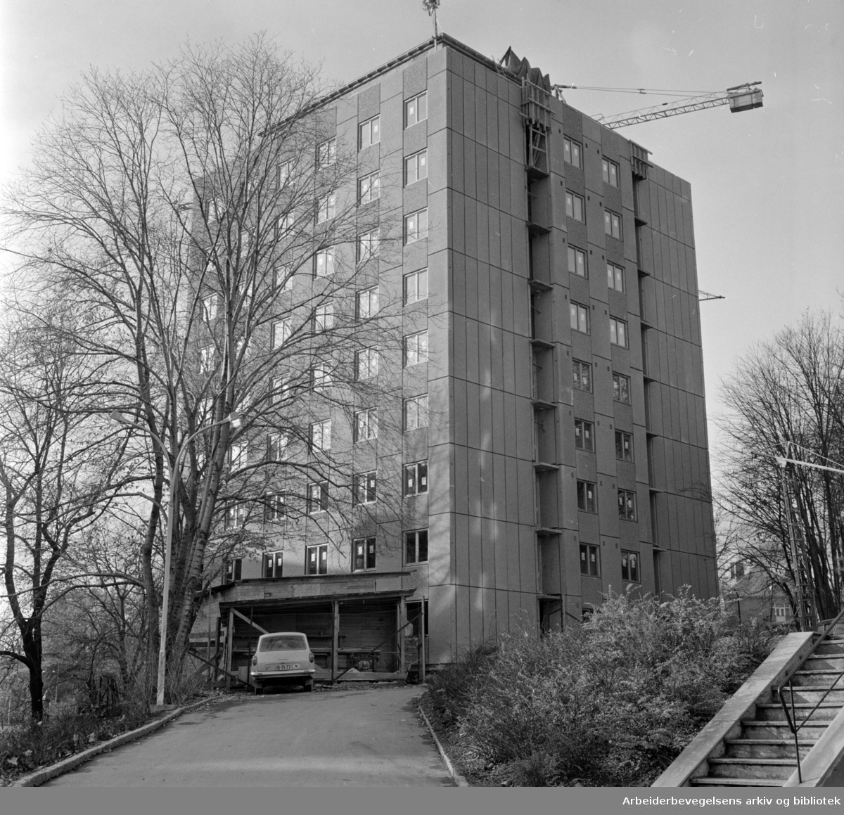 Ullevål sykehus. Den ene av de to nye internatblokkene. November 1966