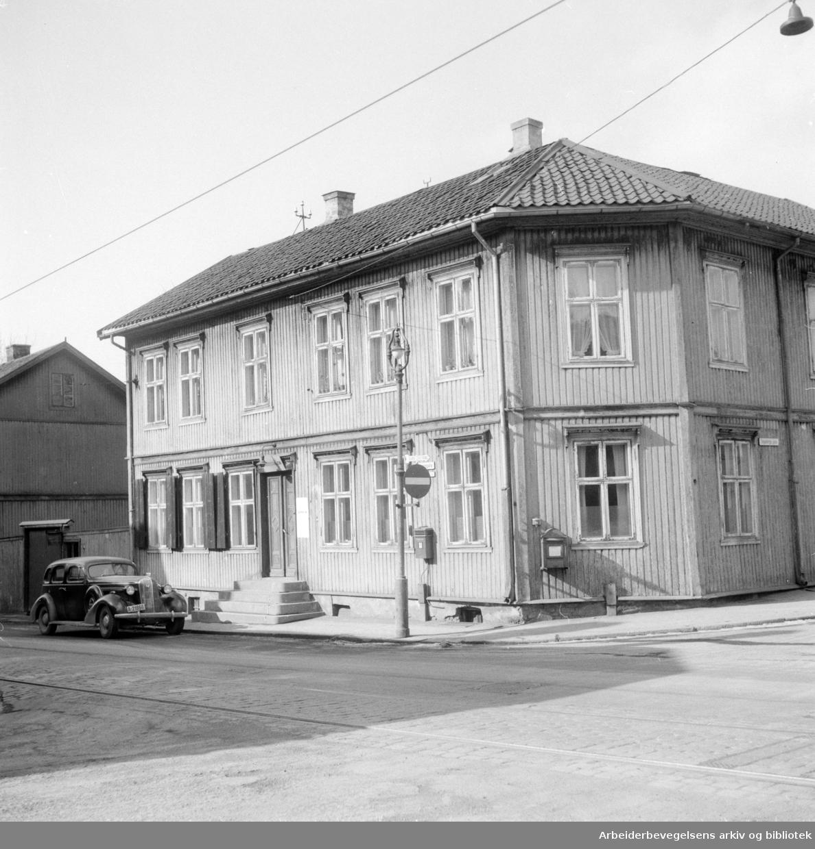 Vålerenga politistasjon. Mars 1955