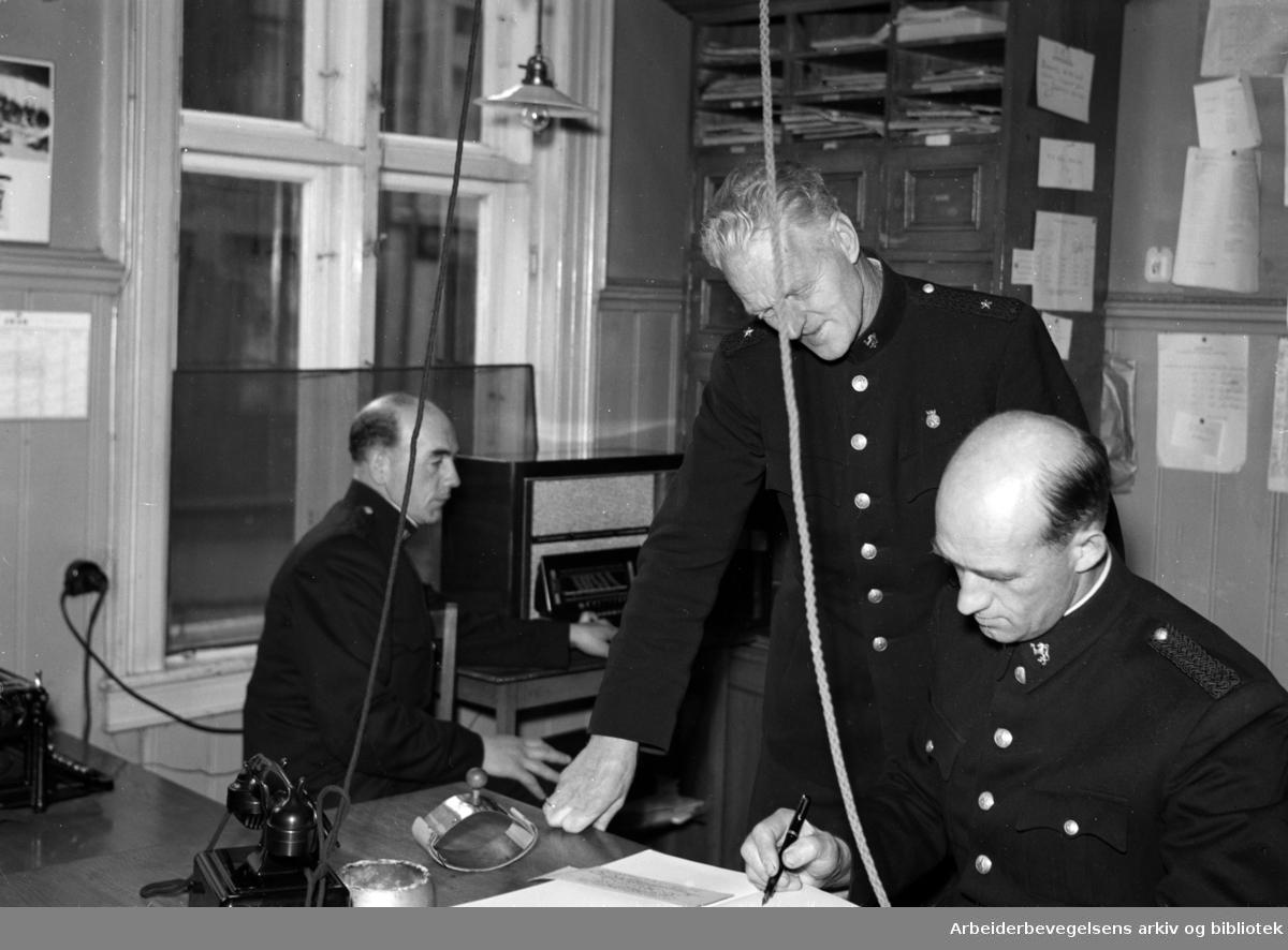 Vålerenga politistasjon. September 1946