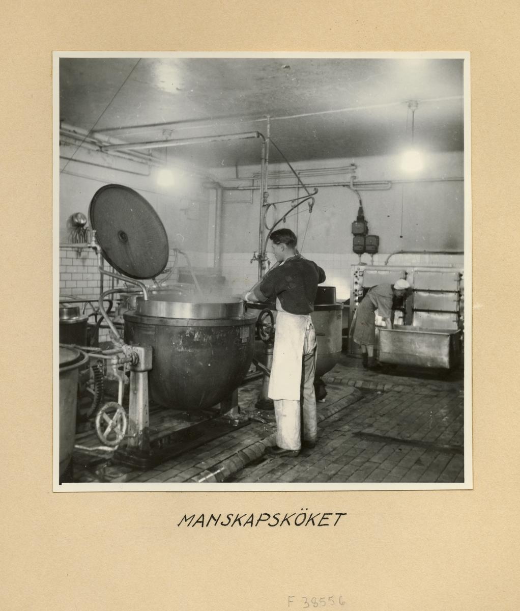 Manskapsköket, Svea artilleriregemente A 1, våren 1947.