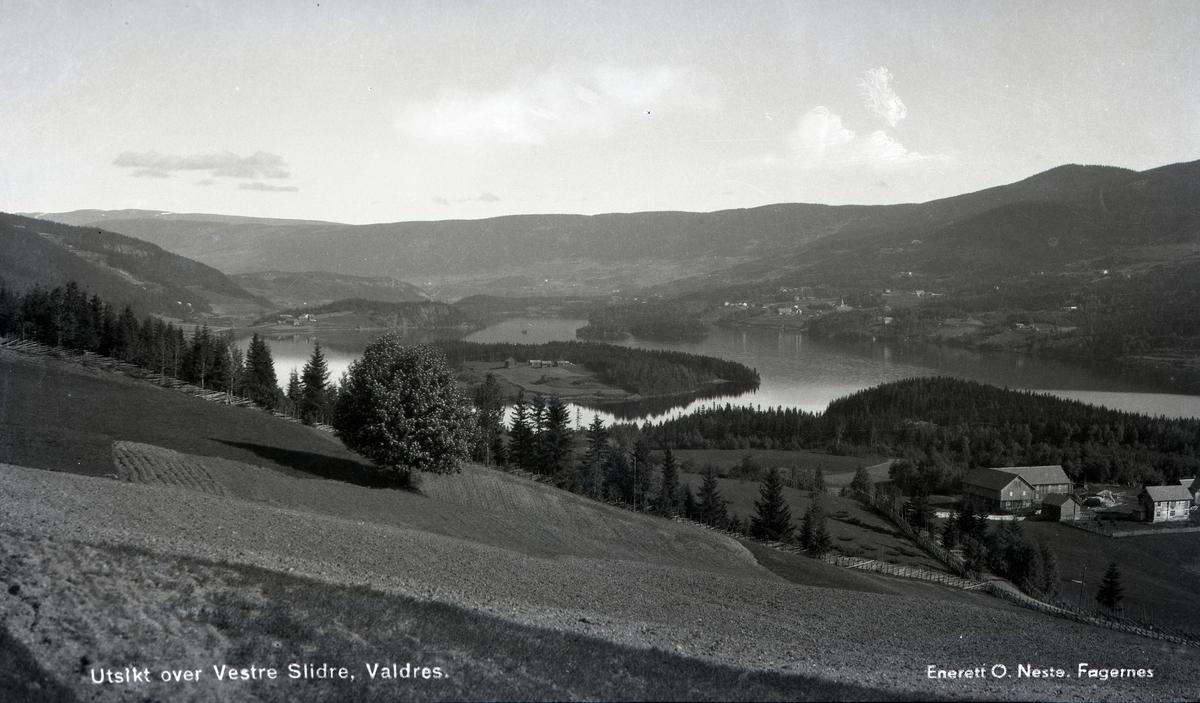 Utsikt over Vestre Slidre, Valdres.