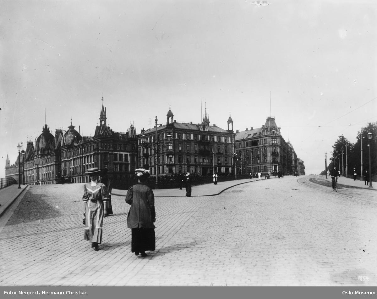 gateløp, mennesker, bygårder, Victoria terrasse, park
