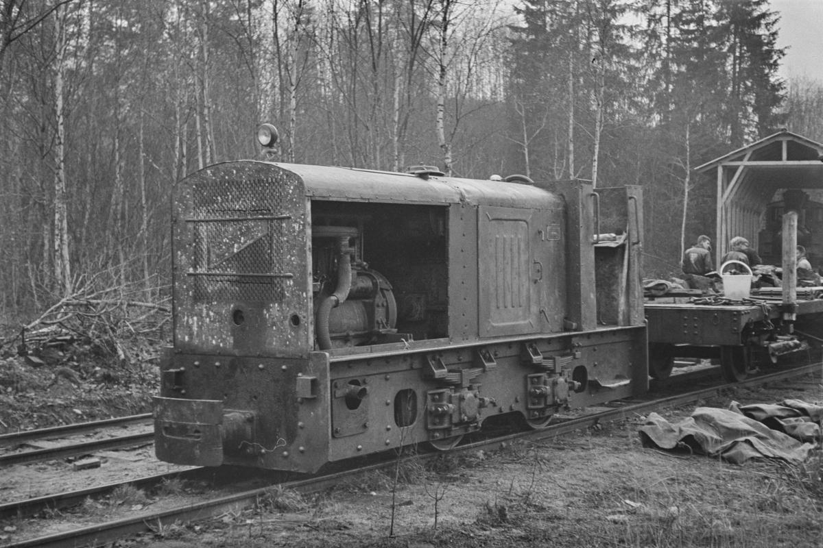Diesellokomotiv på museumsbanen Urskog-Hølandsbanen på Sørumsand.