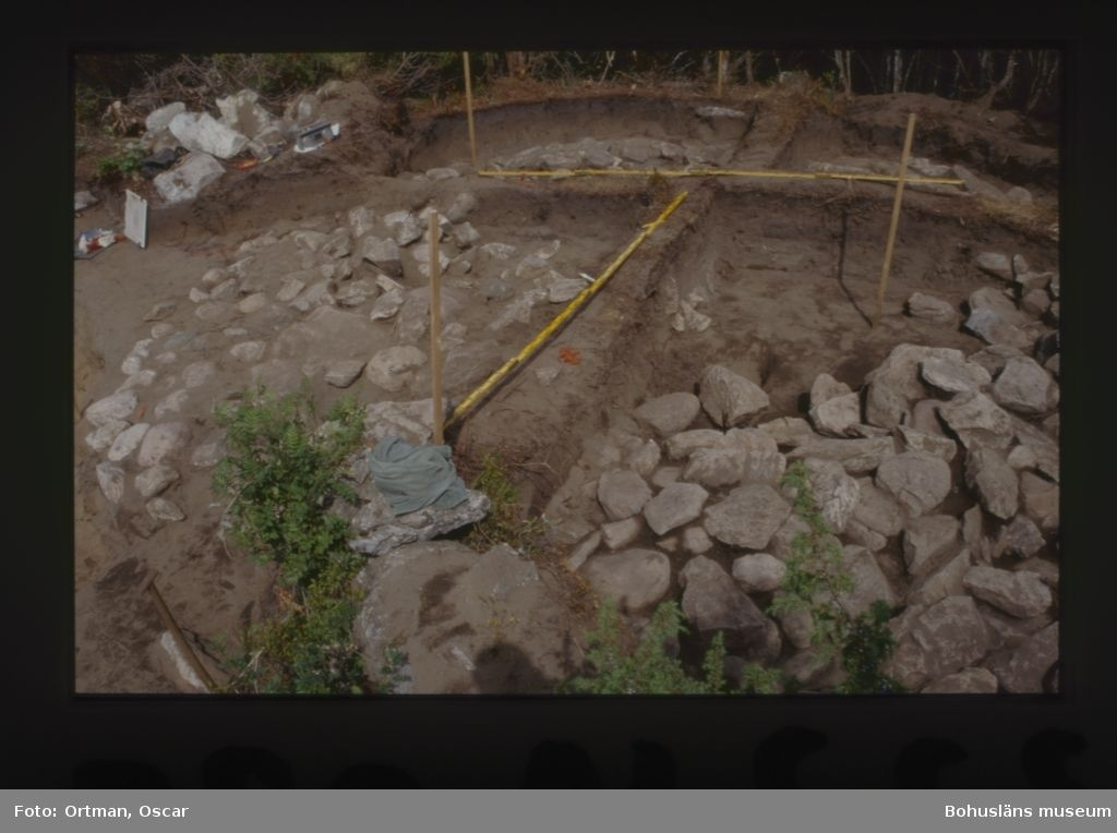 Norum 140:1, kärnröset under utgrävning östra delen Fotograferat från väster