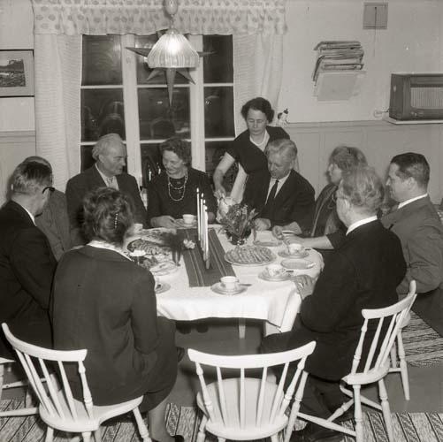 Sammanträde hemma på Sunnanåker, 14 januari 1962.