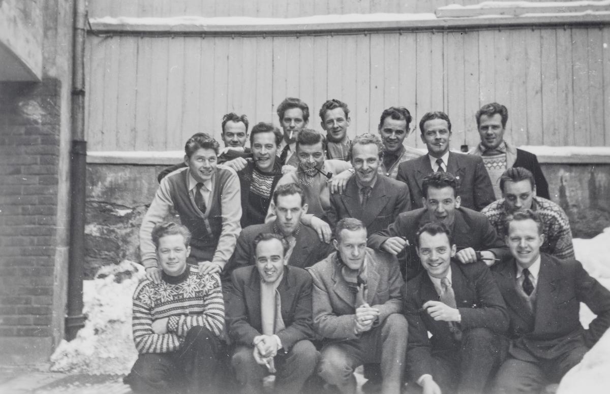 Elever på jernbaneskolens fyrbøterkurs 1957/58.