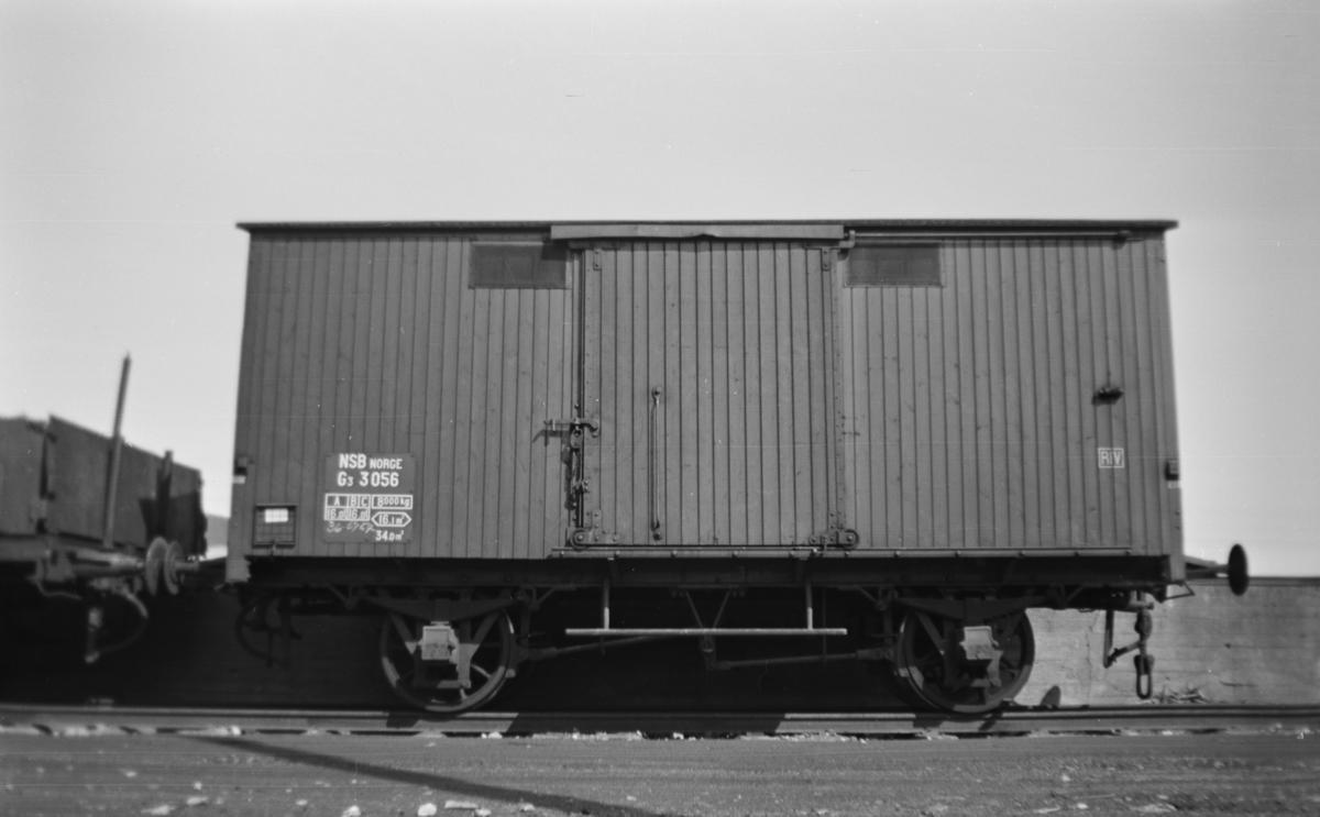 Normalsporet godsvogn type G3 nr. 3056.