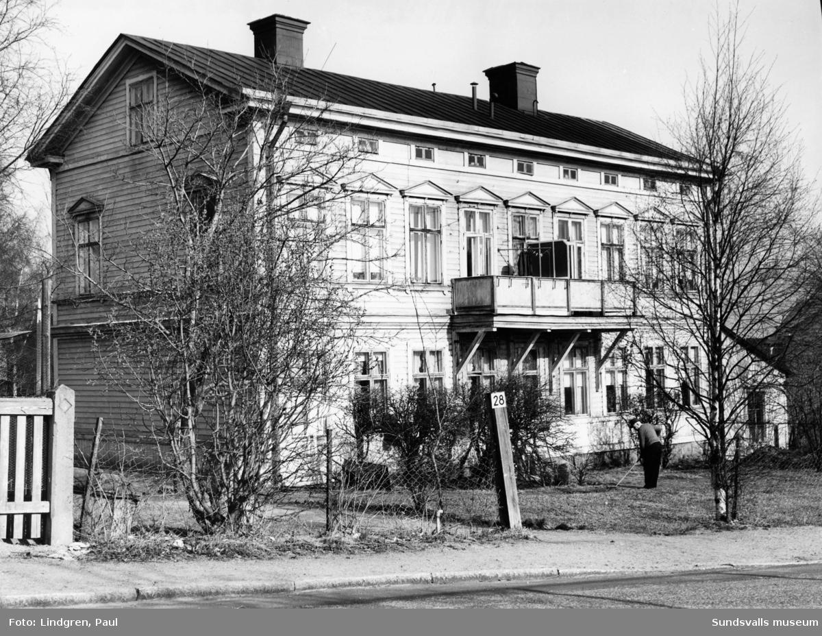 Parkgatan 28, Södermalm. Byggnaden är ritad av arkitekt Per Österlund i början av 1890-talet.
