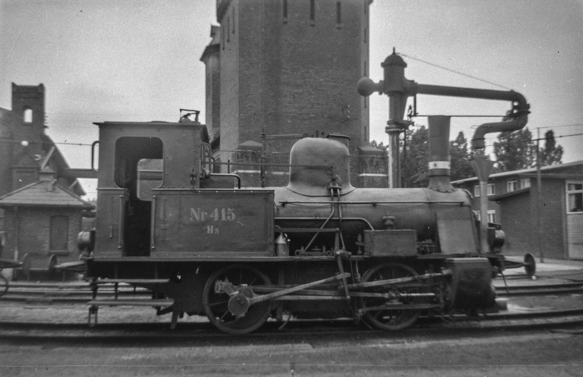 Dansk damplokomotiv type Hs nr. 415 ved København Østerport.