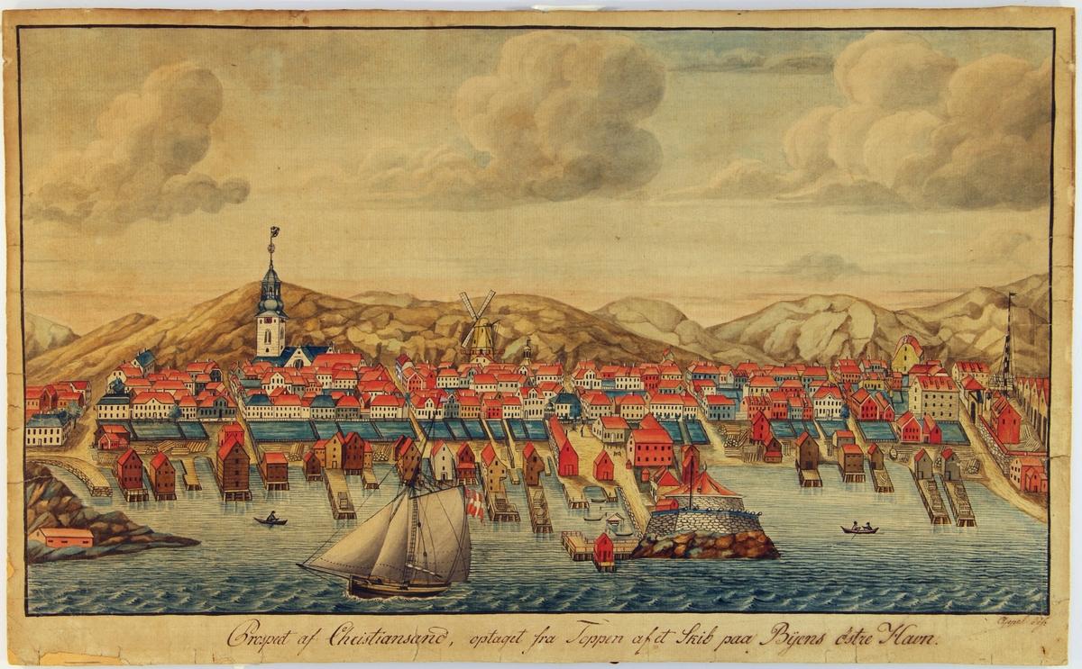Kristiansand sett fra østre havn.