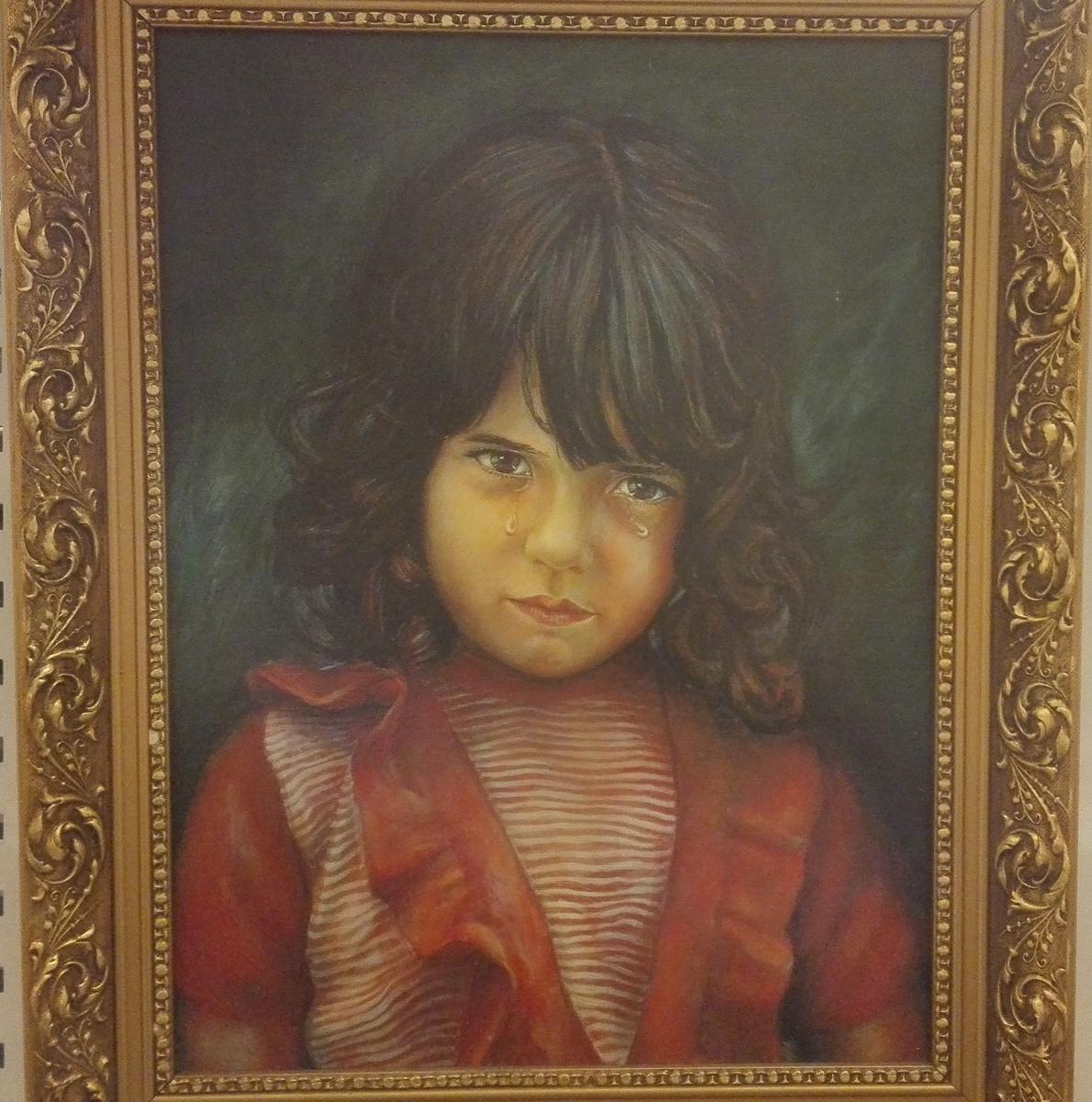 Barneportret  - Gråtande gut/gråtande jente