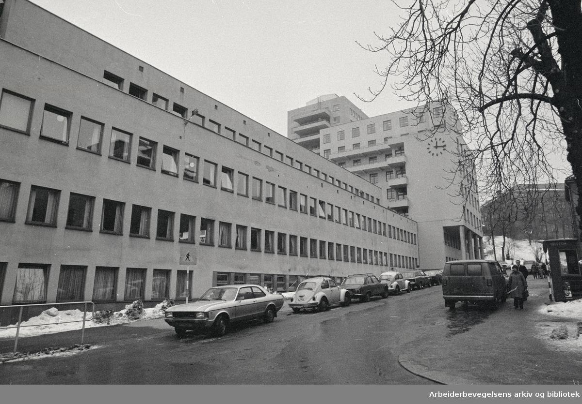 Rikshospitalet. Februar 1980