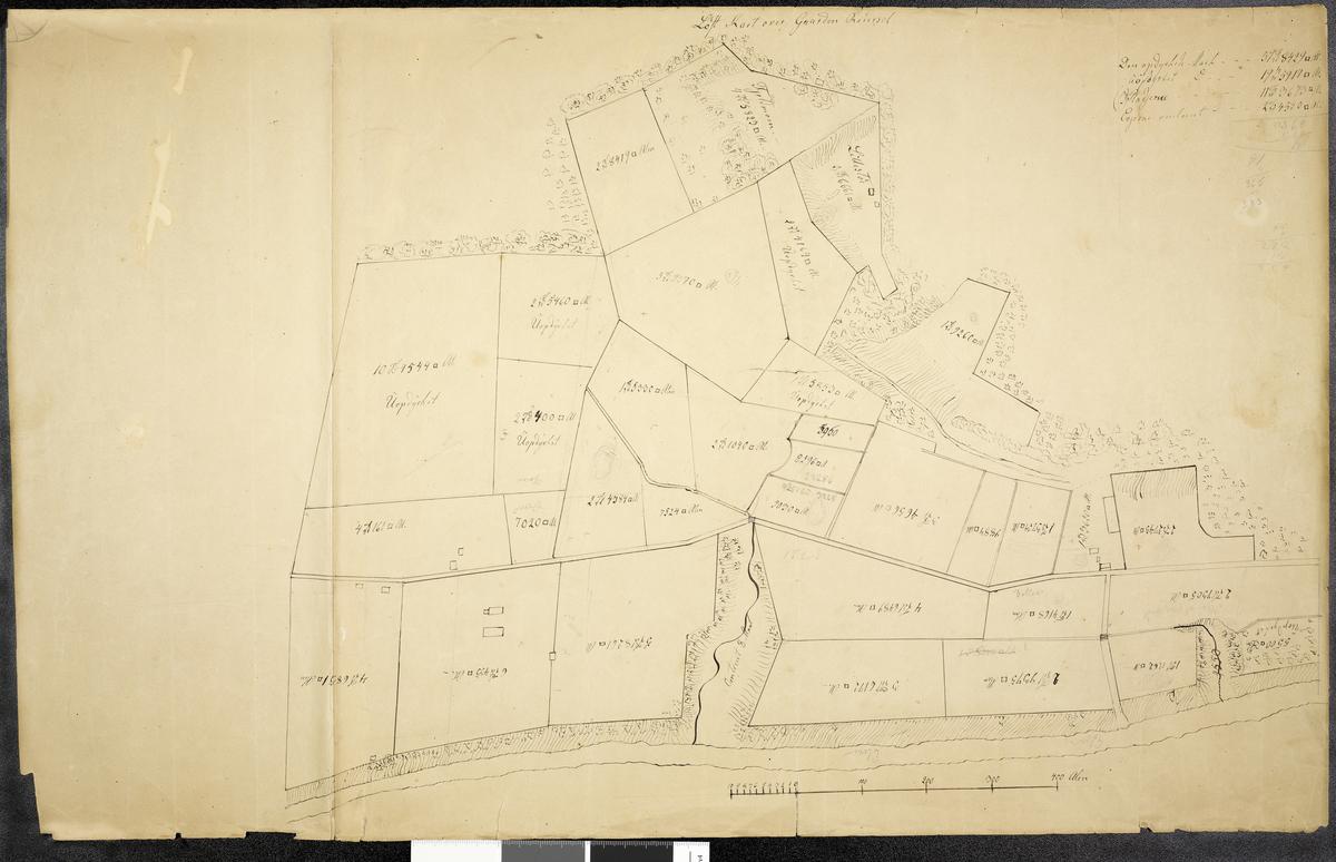 Løst kart over Gaarden Reiersel