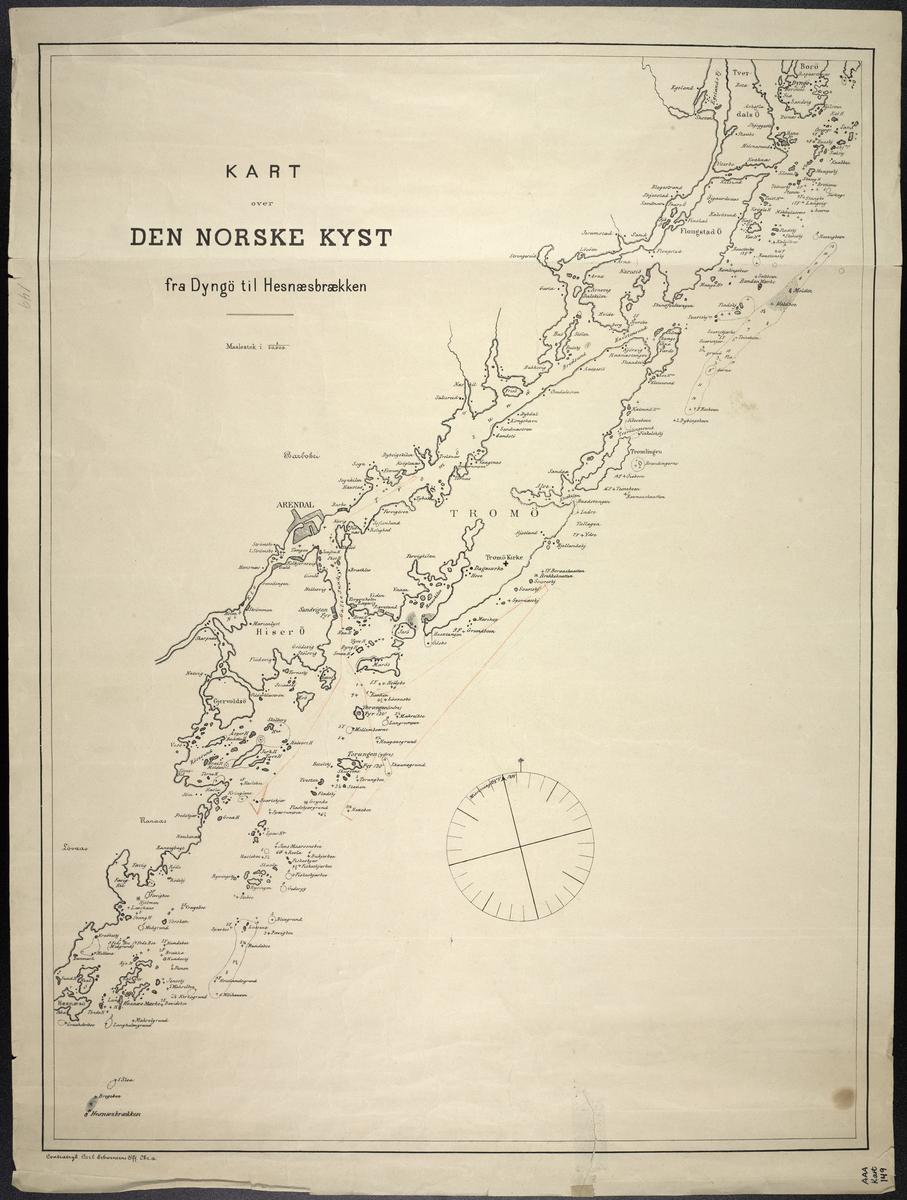 Kart over Den Norske Kyst fra Dyngö til Hesnæsbrækken