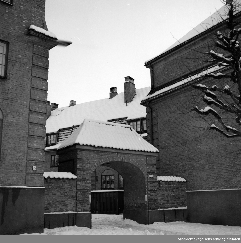 Lindern (Armauer Hansens Gate). Januar 1954