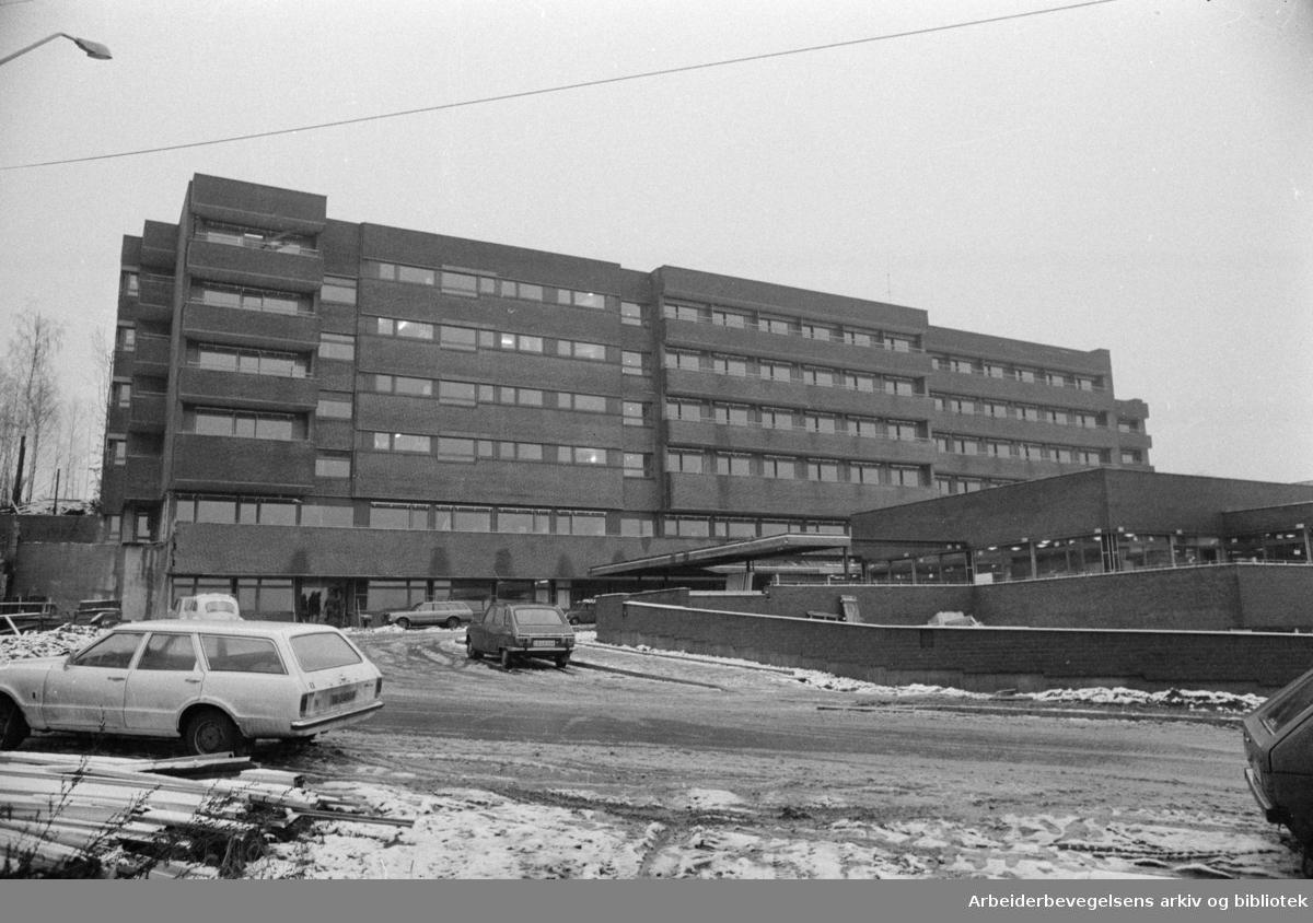 Langerud sykehjem, snart klart til bruk. November 1975
