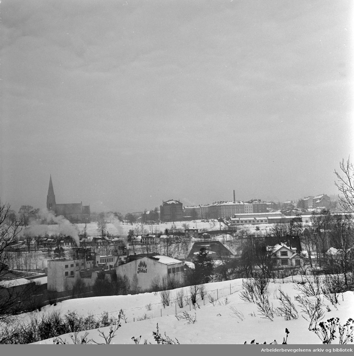 Kværnerdalen. Mars 1963