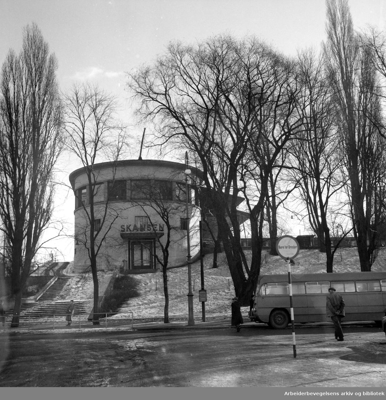 Kontraskjæret, (Skansen). Februar 1953