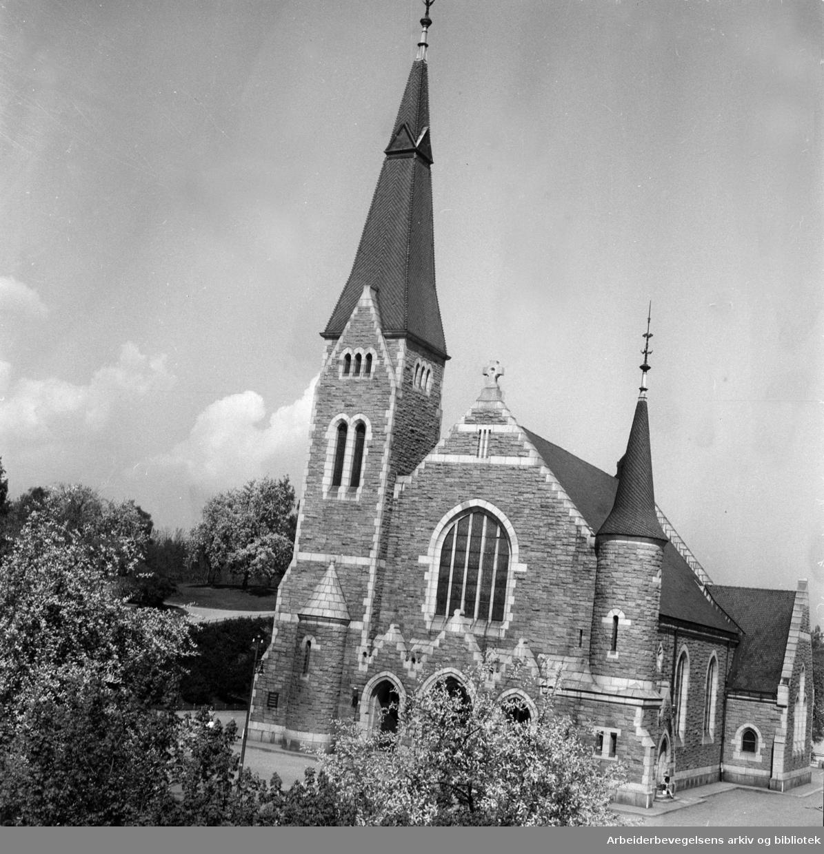 Fagerborg kirke. Våren 1947