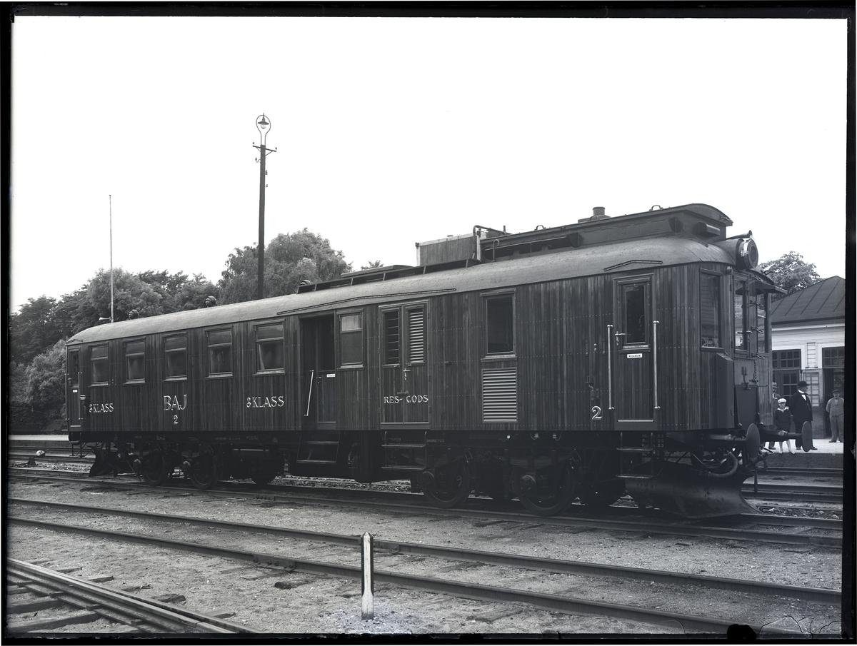 Diesel-elektrisk vagn för BAJ. Tillverknings år: 1926.