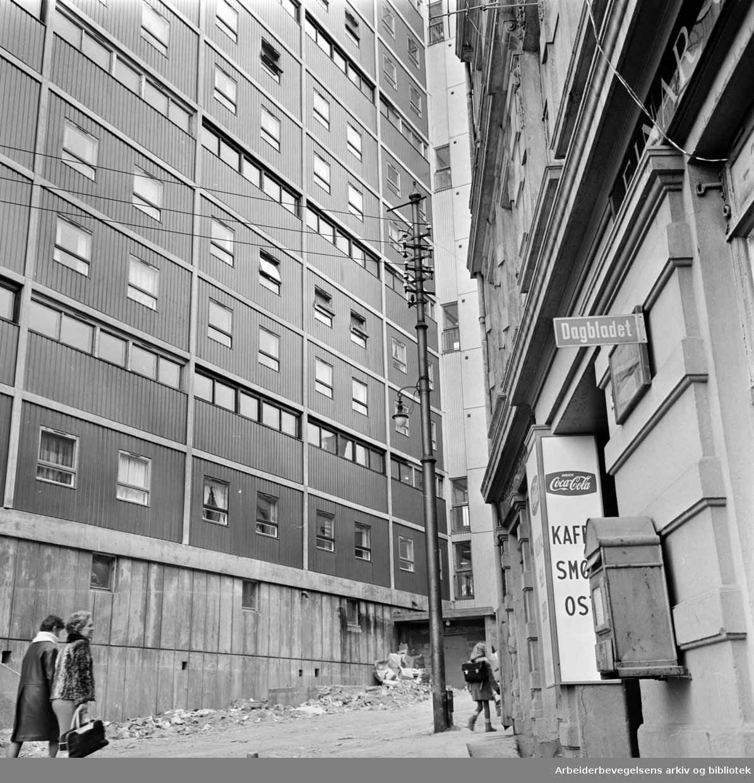 Enerhaugen. Gammelt og nytt på Enerhaugen. August 1963