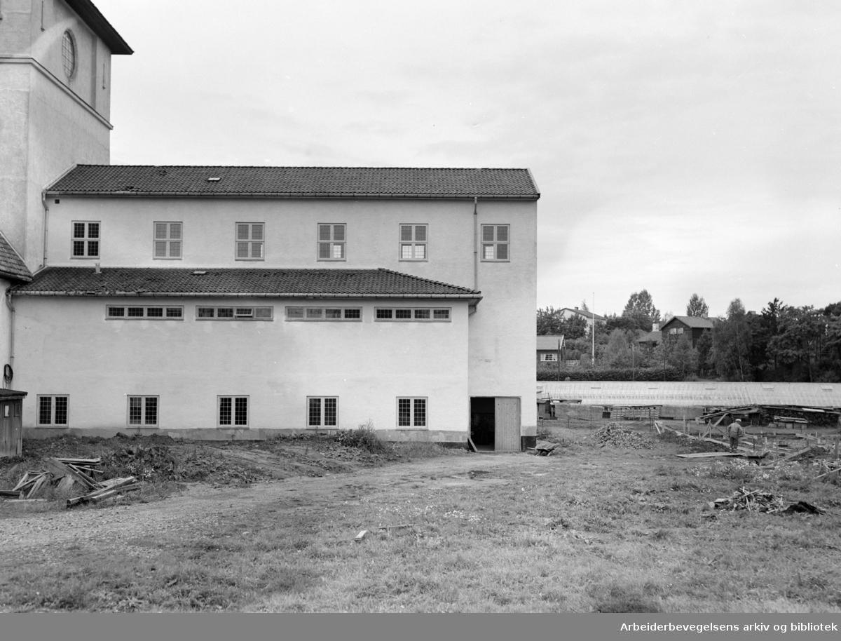 Bygdøy. Teknisk Museum, Administrasjonshall. September 1954