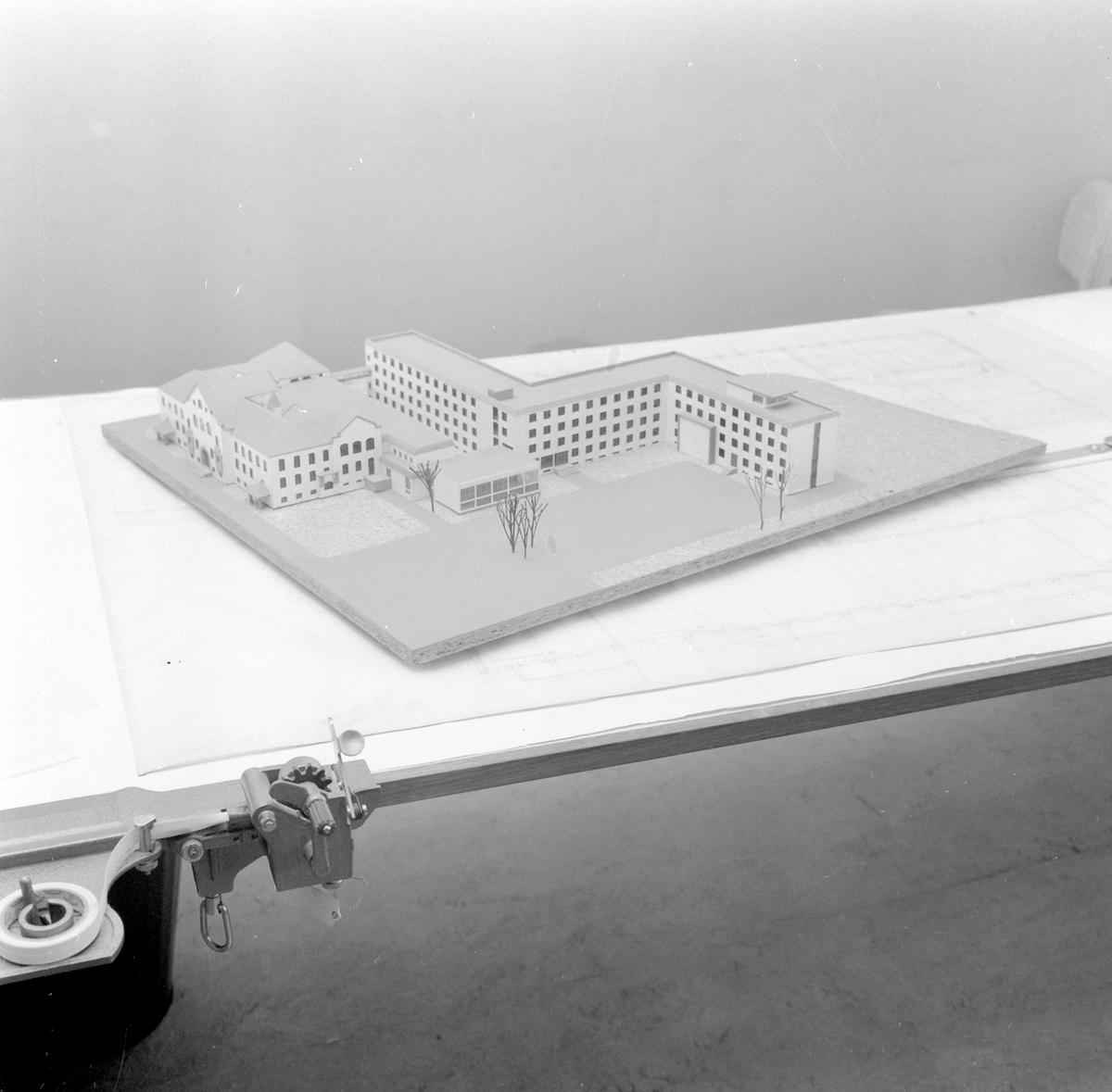 Modell av elektrobygget på NTH