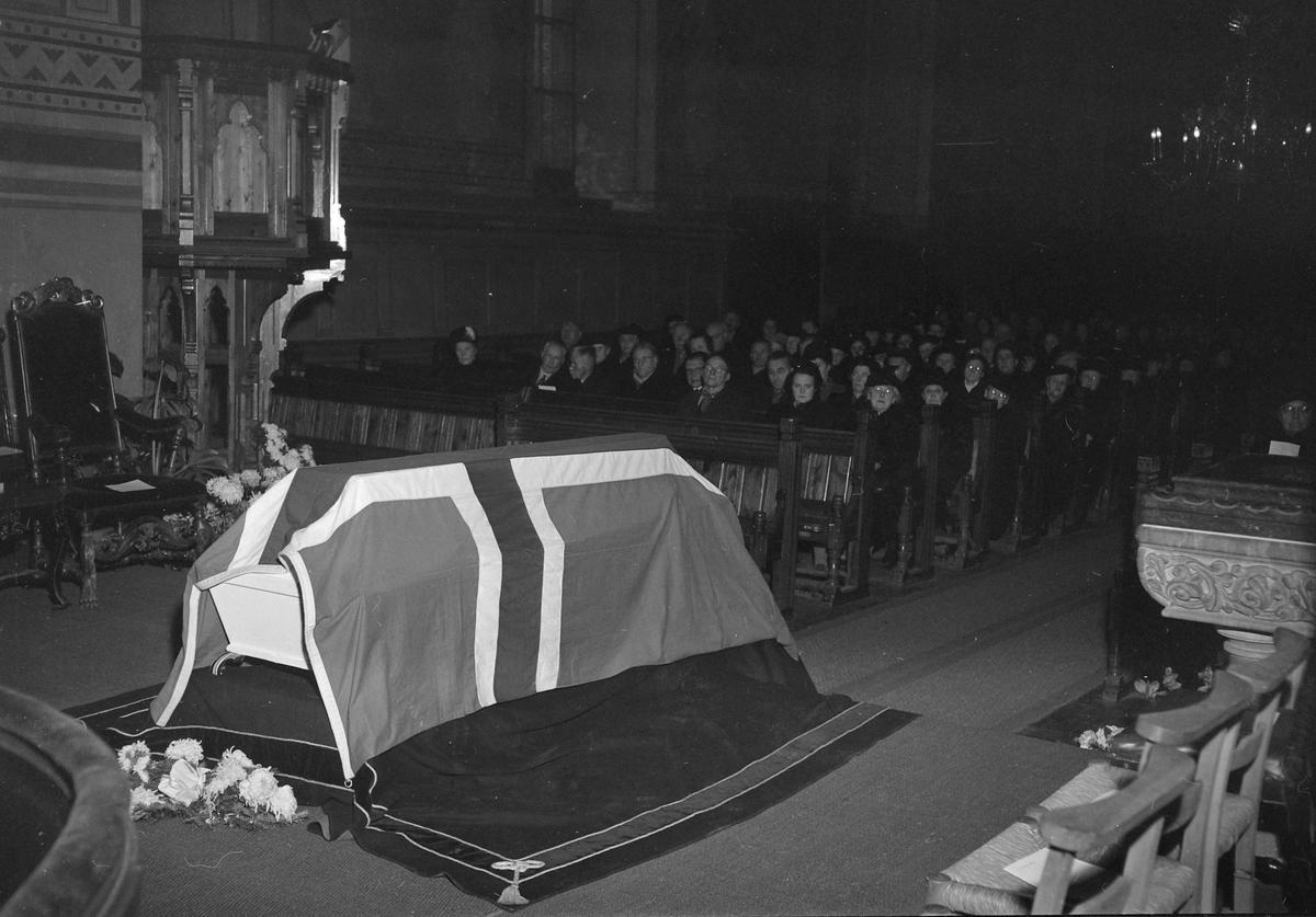 Begravelse for Sigurd Opdahl
