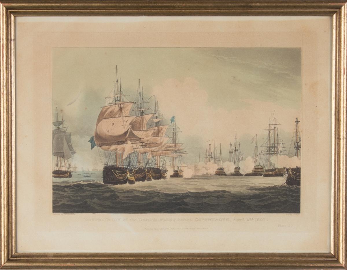 Tilintetgjøresle av den danske flåten utenfor København i 1801